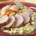 Pork Medallions with Mirasol and Cherry Cream Sauce